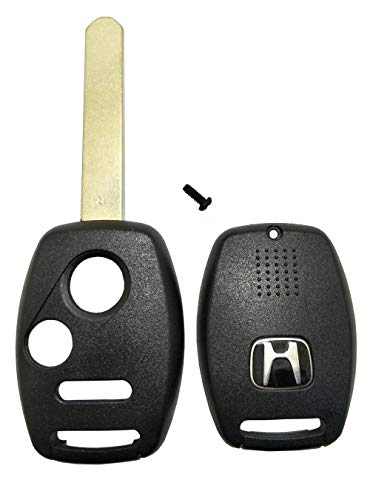 Replacement Key Fob Case Fit Honda Odyssey Pilot Ridgeline Fit Accord Keyless Entry Remote Key Shell Combo 3 Buttons Car Key with Uncut Blade Blank (3 Button Key Shell)
