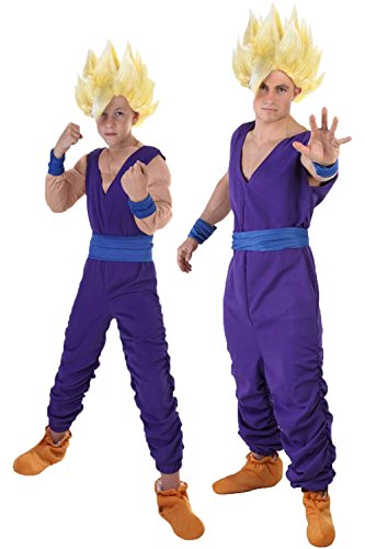 UU-Style Dragon Ball Cosplay Adult Outfit Child Suit Son Gohan Costume Cosplay (Colonial Girl Costumes Virginia)
