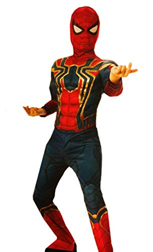 (Rubie's Boy's Iron Spider Muscle Deluxe Small Costume Red)