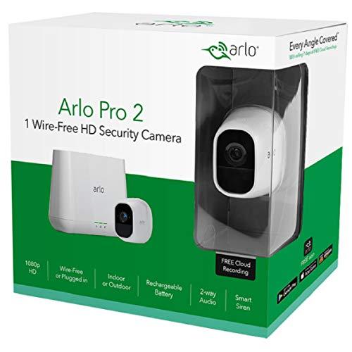 Arlo VMS4330P-100EUS Pro 2 - Sistema de seguridad y vídeo vigilancia de 3 cámaras sin cables 1080p HD (recargable, interior/exterior, visión nocturna, ...