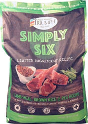 Simply Six Limited Ingredient Lamb Meal Brown Rice & Pea Recipe Dog Food 28 Lbs