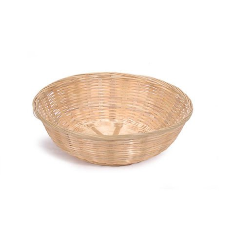 Bulk Buy: Darice DIY Crafts Bamboo Bread Basket Round 12 x 3.5 inches (12-Pack) 2858-54