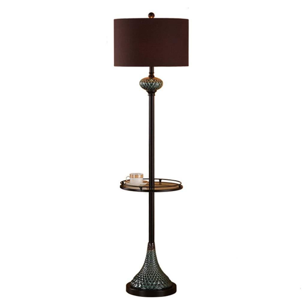 Hwhchフロアランプ 鉄のフロアランプ、リビングルームの寝室のベッドサイドライト28×150センチメートルのためのガラス棚屋内照明垂直テーブルランプ (色 : A) B07Q4BD8YR B07Q4BD8YR B B : B, 【正規通販】:92a2a322 --- m2cweb.com