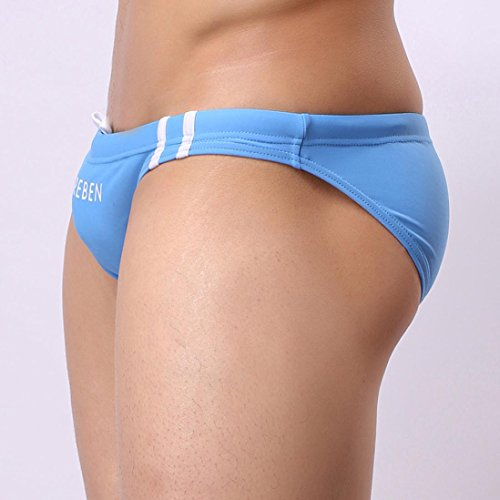 fc99fb654d Vicbovo Mens Sexy Swim Briefs Bikini Trunks Swimming Shorts Beach Shorts  Swimsuit Bathing Suit Blue