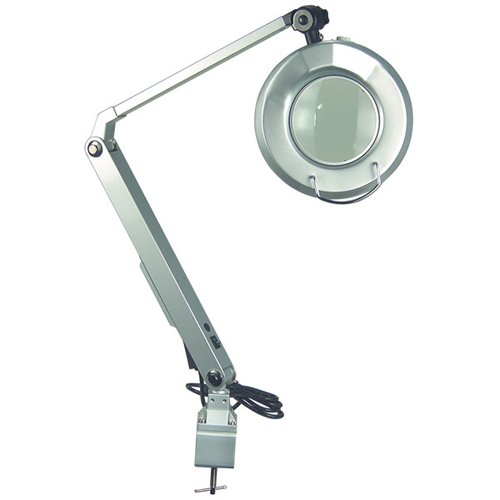 TTC Magnifying Fluorescent Work Light - MODEL: TTC-30LEB5D REACH: 32.5'' BASE: Clamp WATTAGE: 22watt DIOPTER LENS: 5 MAGNIFICATION: 2.25X