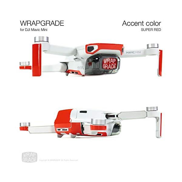 WRAPGRADE Colore di Accento Skin Compatibile con DJI Mavic Mini (Super Red) 4 spesavip