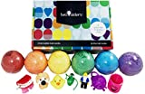 what are the neutral colors Kids BUBBLE Bath Bombs with Surprise Toys Inside. Gender Neutral for Boys or Girls by Two Sisters Spa. Set of 6 Large Fizzies in Gift Box. Safe, Fun Colors, Scented, Hand-made in the USA