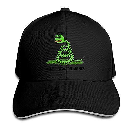 Men Sandwich Cool Trucker Hat Pepe Frog Don't Tread On Memes