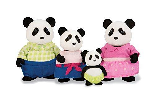 Li'l Woodzeez Skyhoppers Panda Family Set with Storybook