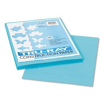 Pacon Tru-Ray Construction Paper, 9-Inches by 12-Inches, 50-Count, Turquoise (103007)