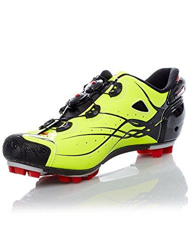 Sidi Mtb Tiger Carbon Jaune Fluorescent Chaussures