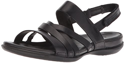 Ecco Dames Flash Romeinse Sandalen Zwart