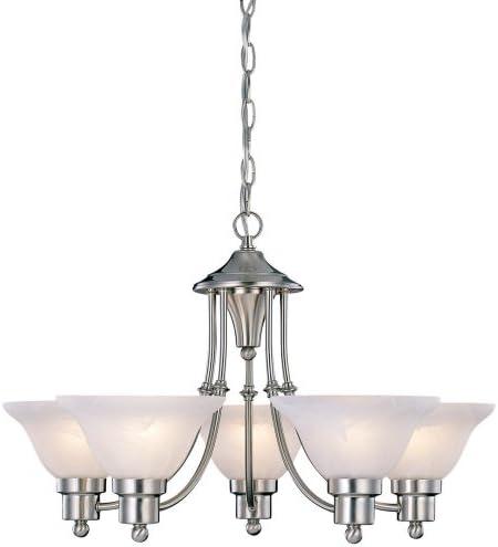 """Hardware House 544452 54-4452 Bristol 5 Light Chandelier, 24""""x15"""", Satin Nickel"""