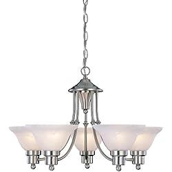 Hardware House 544452 Bristol 5-Light Chandelier, Brushed Nickel