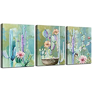 Ardemy Canvas Wall Art Cactus Flowers 12