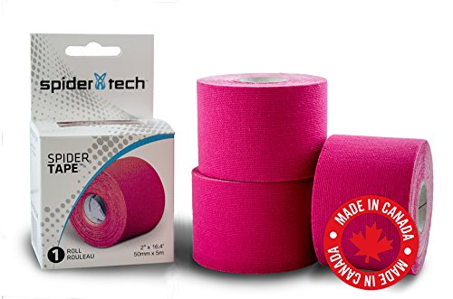 Spider Tech Therapeutic Kinesiology Tape Roll (50mm x 5mm) (Pink)