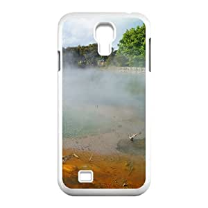 Okaycosama Funny Samsung Galaxy S4 Cases Geothermal Hot Springs Rotorua New Zealand Protective for Girls, Samsung Galaxy S4 Case Luxury, [White]
