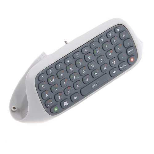 OSTENT Keyboard Keypad Chatpad Live Compatible for Microsoft Xbox 360 Controller Video Game Color White