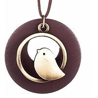OrliverHL Fashion Wooden Bird Pendant Vintage Long Necklace For Women