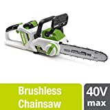 POWERSMITH 14 Inch 40 Volt Max Cordless Battery Powered Lithium Ion Chainsaw
