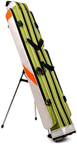 釣り竿バッグ 2層スリーティアフィッシングギアバッグフィッシングロッドバッグを持つものは誰のように釣り用ブラケットとしてAギフト 持ち運び便利 (Color : Green, Size : 125x28x17cm)