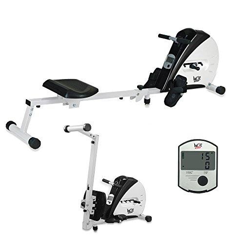 We R Sports Premium-Rudergerät, Heim-Rudergerät zum Trainieren, für Fitness, Kardio, Workout, Gewichtsabbau schwarz schwarz