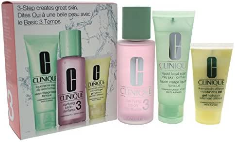 Clinique 3-step Skin Care System Combination Oily Skin Type, 3 Count