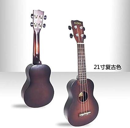 BASDW ukelele ukelele ukelele guitarra pequeña de 21 pulgadas de ...