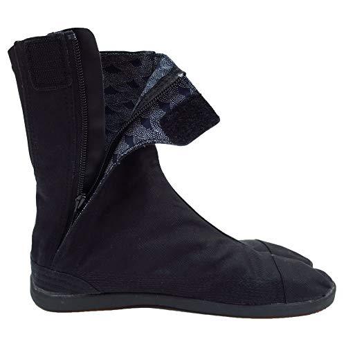 Ninja Shoes - Marugo] Saisou Fastener (Zipper) Ninja Shoes Tabi Boots (Outdoor), Black, 24.0(JP)/6(US)