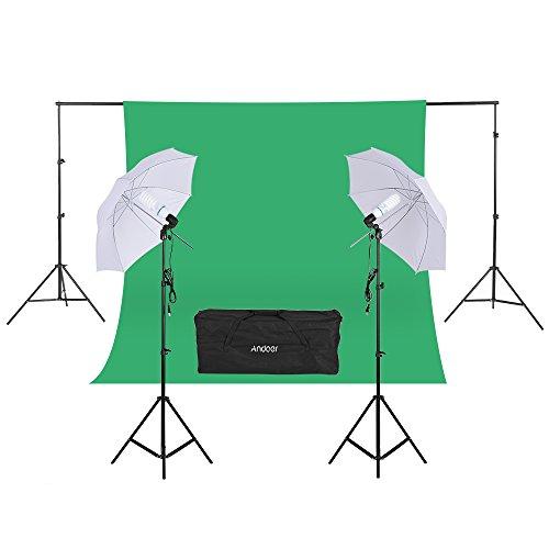 Andoer Photo Video Portrait Studio Softbox Umbrellas Continuous Lighting Kit for Studio Photography Portrait Lighting and Video Lighting by Andoer
