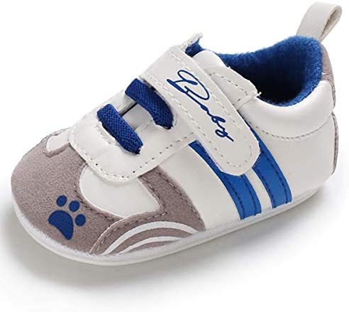 Infant Baby Boys Girls/Canvas/Toddler Sneakers/Anti-Slip Soft Rubber Sole/First Walker/Candy/Prewalker Newborn Crib Shoes