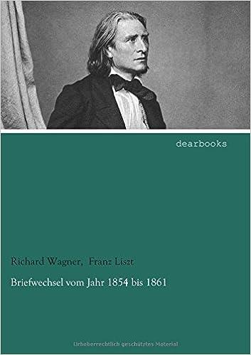 Book Briefwechsel vom Jahr 1854 bis 1861
