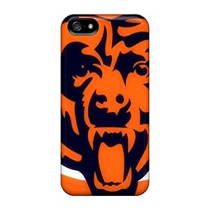 Shock-Absorbing Hard Phone Case For Iphone 5/5s With Customized Lifelike Chicago Bears Series ColtonMorrill