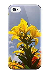 Defender Case For Iphone 4/4s, Lily Flowers Pattern