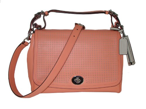 Coach Perforated Leather Bag - 8