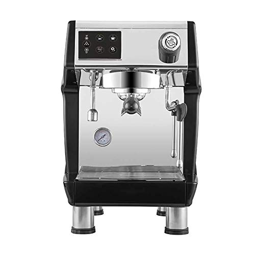 Commercial Coffee Machine – Italian Freshly Ground Semi-automatic Pump Coffee Shop Equipment Black (405 490 445mm)