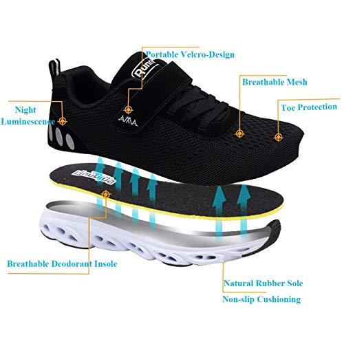 Unisexe Les Agées Personnes De Basse Ville Mode Chaussures Chaussure Plates Marche Noir Décontractée rp8rOxv
