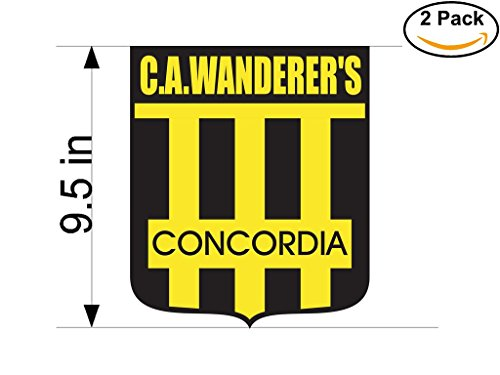fan products of Club Atletico Wanderer s de Concordia Argentina Soccer Football Club FC 2 Stickers Car Bumper Window Sticker Decal Huge 9.5 inches