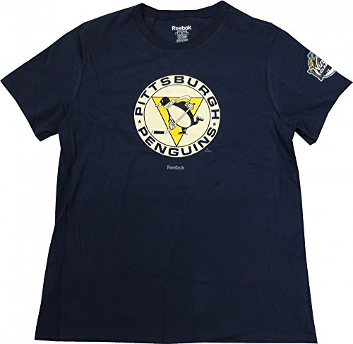 Pittsburgh Penguins Reebok Women's Navy Blue Vintage Logo T-shirt - Medium ()