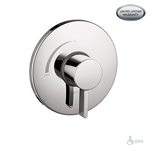 Hansgrohe 4233820 S Pressure Balanced Valve Trim with Integrated Volume Control, 6.75 x 6.75 x 3.00 inches, Brushed Nickel (Hansgrohe S And E)