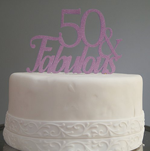 All About Details Purple 50-&-fabulous Cake Topper