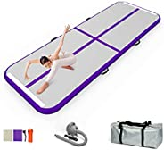 EZ GLAM 16ft/20ft/27ft /30ft Gymnastics Air Floor Inflatable Tumbling Mat with Electric Air Pump for Gymnastic