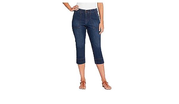 Gloria Vanderbilt Womens Jeans Denim Rhea Comfort Waist Capri Pant Scottsdale