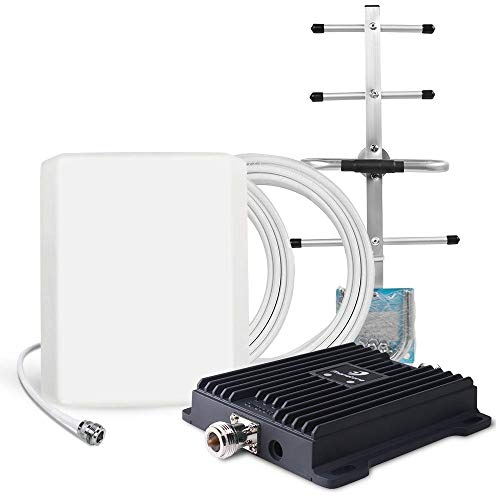 Cell Phone Signal Booster for Home and Office with Automatic Gain Control Features - Dual Band 700MHz 4G LTE Mobile Repeater - Cover up to 4500 sq ft (Cheap And Best Mobile With All Features)