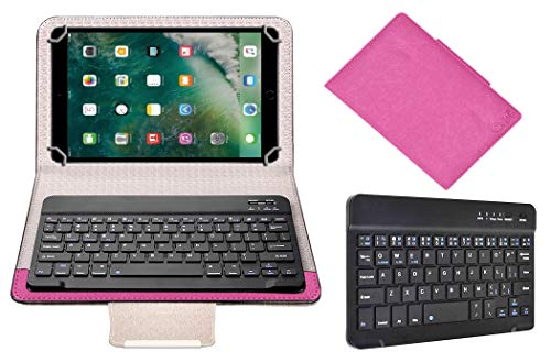 Acm Wireless Bluetooth Keyboard Case Compatible with Apple Ipad 9.7 2017 A1822 Tablet Flip Cover Stand Study Gaming Pink