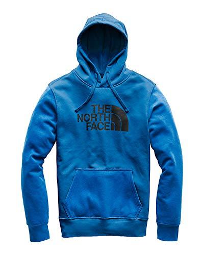 (The North Face Men's Half Dome Pullover Hoodie - Turkish Sea & TNF Black - L)