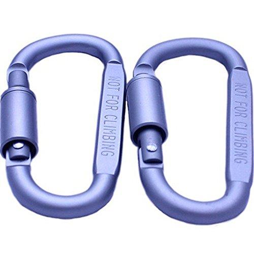 Ezyoutdoor® 5 pcs Aluminum Carabiner Screw Lock D-ring Key Chain Clip Hook Outdoor Buckle Clip for Hiking Clmbing Fishing