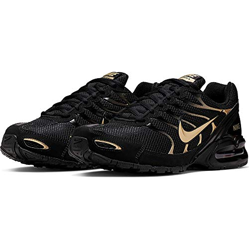 Nike Mens Air Max Torch 4 Running Shoes (11.5, BlackMetallic Gold)