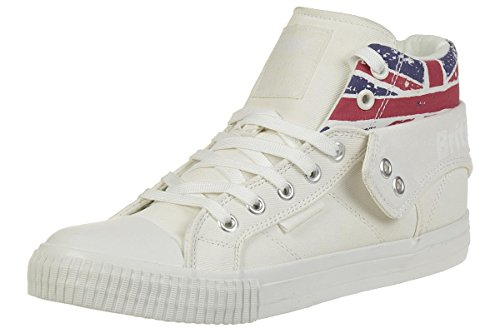 British Knights Roco Femmes Baskets Montante White/Union Jack