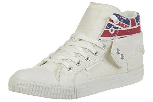 British Knights Roco Femmes Baskets Montante White/Union Jack CPkpxgf